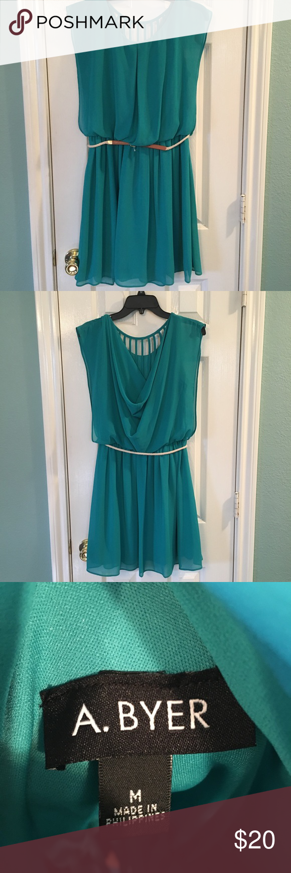 Cute A Byer Teal Green Dress Size M Nwot With Images Teal