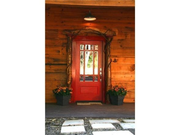 Prime Front Door For Log Home Behind The Red Door This Is Our Interior Design Ideas Inesswwsoteloinfo