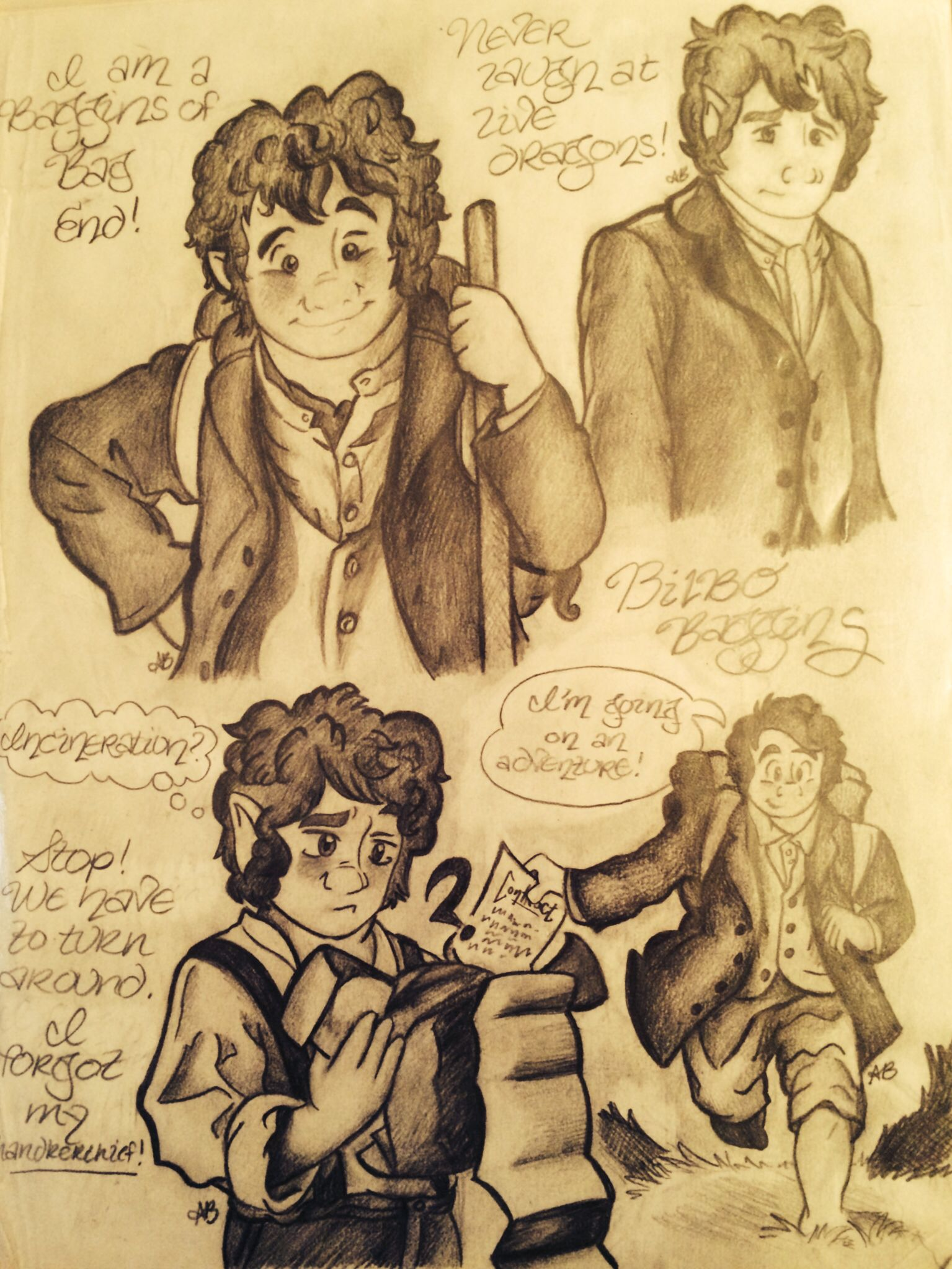 "an analysis of the character of bilbo baggins in jrr tolkiens novel the hobbit Transcript of bilbo baggins character sketch jrr tolkien described bilbo baggins extremely well in the novel, ""the hobbit."