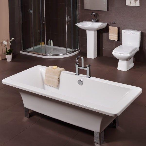 Delia 1700 Free Standing Bath | Free standing bath, Small ...