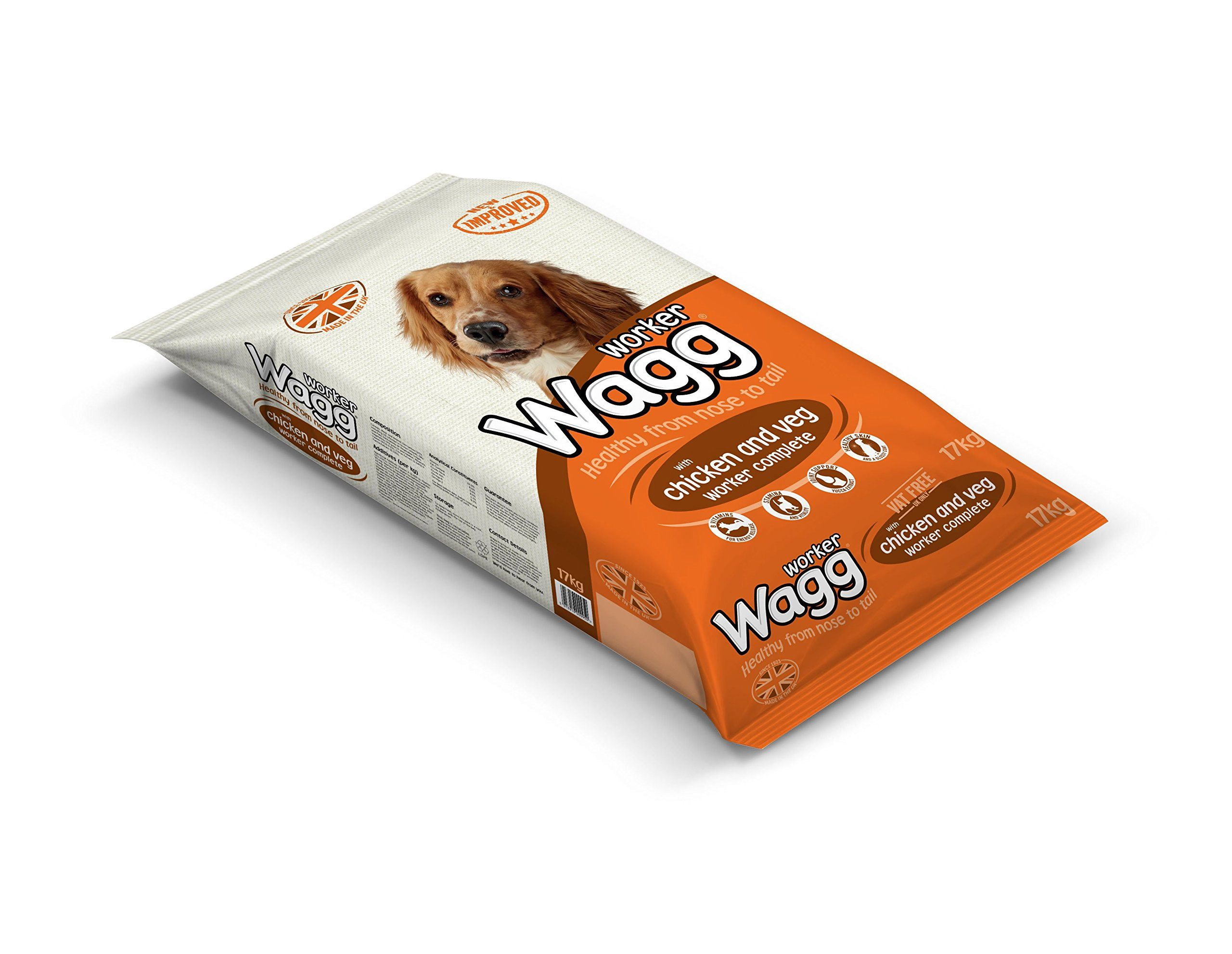 Wagg Complete Worker Chicken And Vegetables Dry Mix Dog Food 17kg