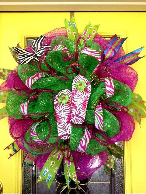 Summer Wreath 3  SKU 31633 by CarolinaWreathsInc on Etsy, $79.00