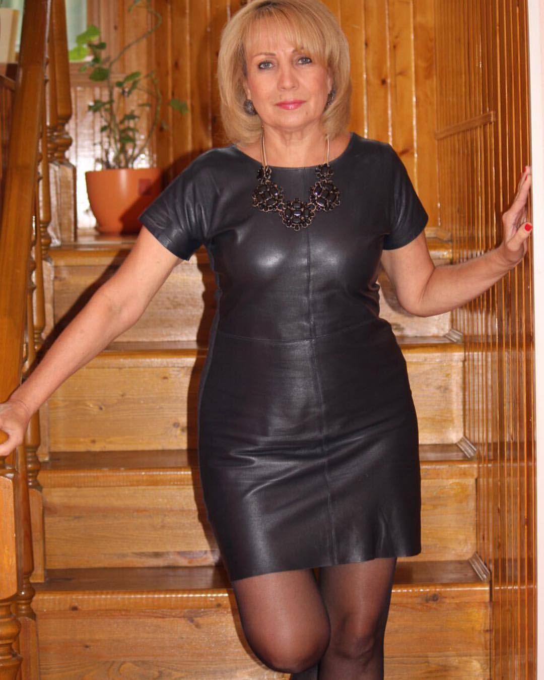 Elegant Mature Lady In Posh Clothes And