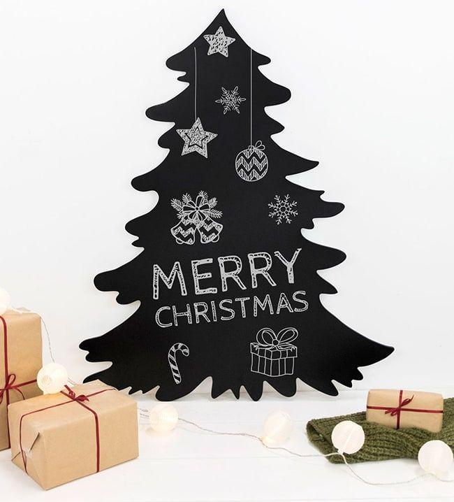 Merry Christmas Estas Pizarras Son Perfectas Para Escribir Divertidos Mensajes Navideños En La Cocina El Dormit Coronas Navideñas Navideño Adornos Navideños