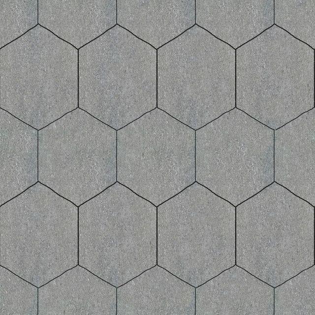 Tileable Hexagonal Stone Pavement Texture + (Maps)   texturise