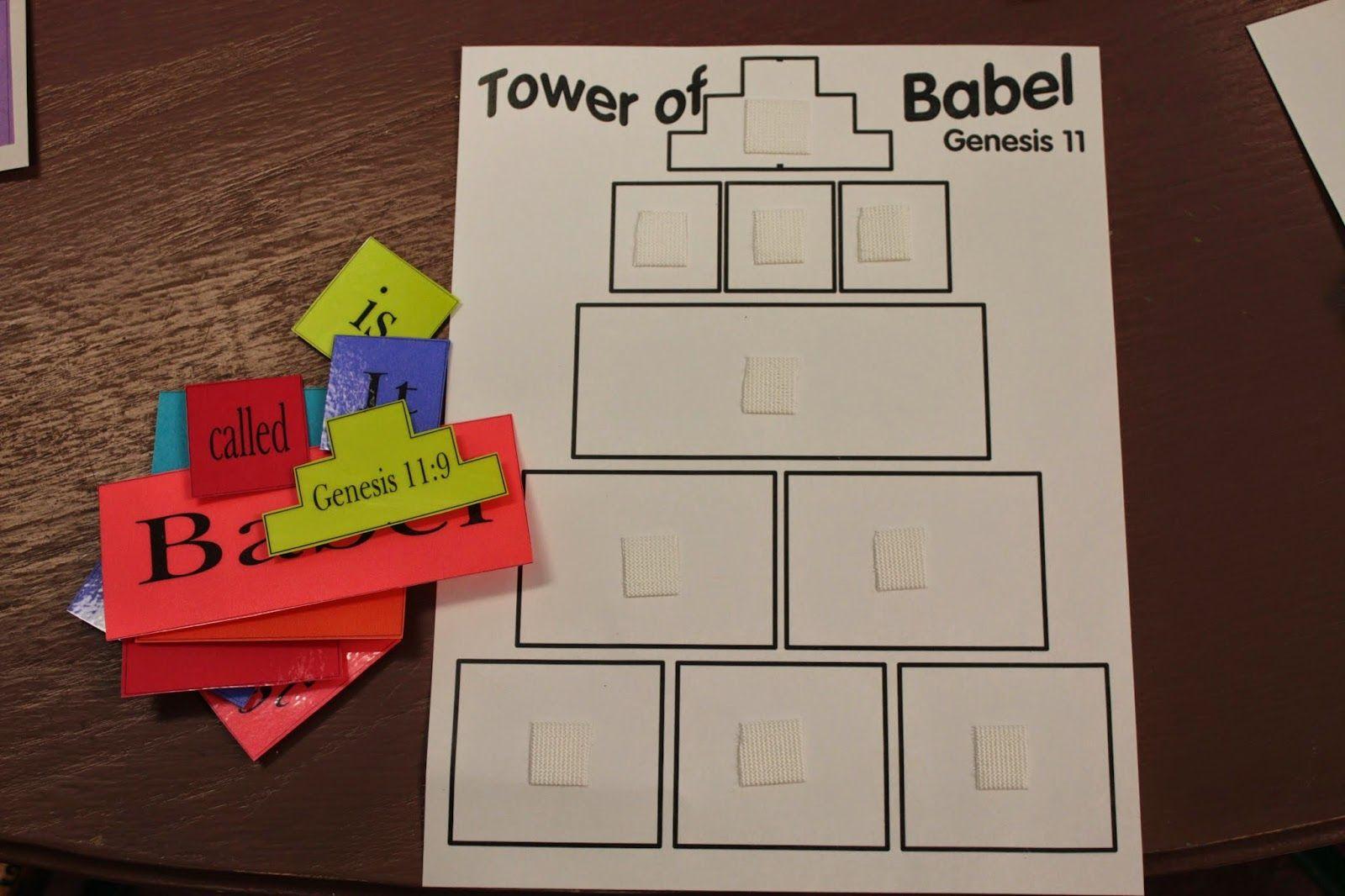 Hands On Bible Teacher Tower Of Babel Kraft Tower Of