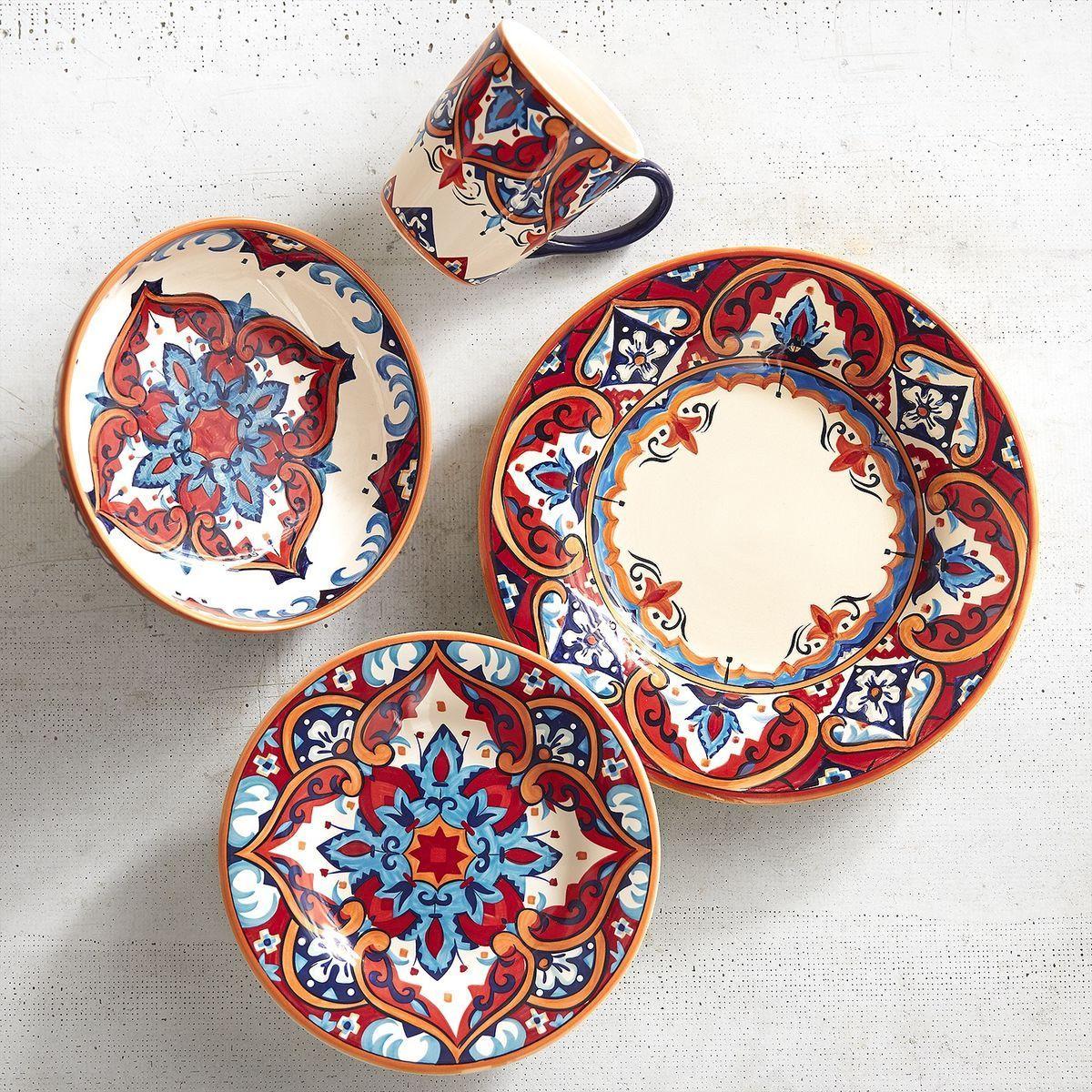 Bohemian Decor Karina Tile Dinnerware  sc 1 st  Pinterest & Bohemian Decor: Karina Tile Dinnerware   Bohemian Decor   Pinterest ...