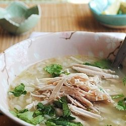 Chnoor Chroonk Cambodian Lemongrass Chicken And Rice Soup Lemon Grass Chicken Soup Rice Soup