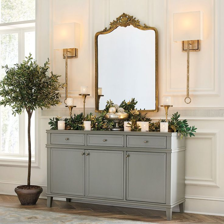 Casual Dining Room Buffet Decorating Ideas: Pin By Lynda Smith On Decor In 2020 (With Images)
