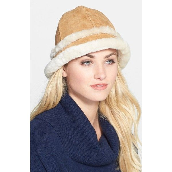 1047ab89108 Women s UGG Australia  City - Small  Genuine Shearling Bucket Hat ( 125) ❤  liked on Polyvore featuring accessories