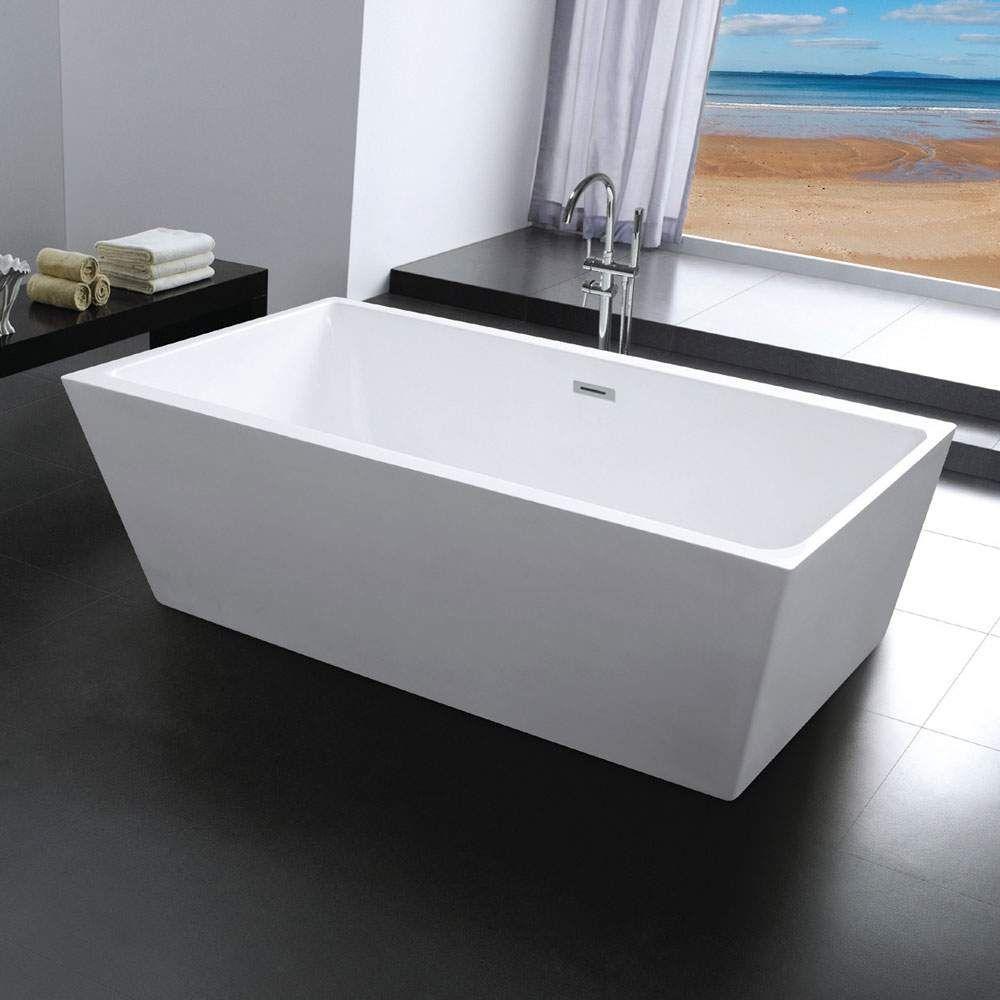 Milo Freistehende Rechteckige Badewanne Mit Insel Design In 2020 Badewanne Wanne Produktdesign
