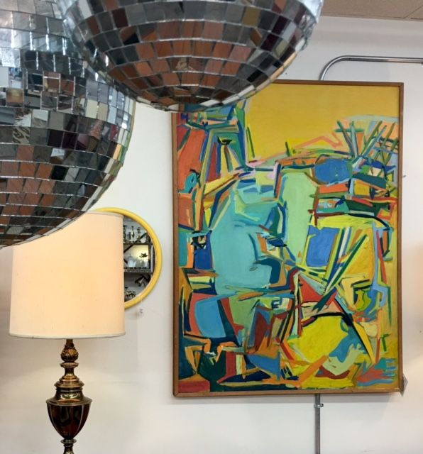 Yellow and Blue abstract painting Funky Accessories Pinterest