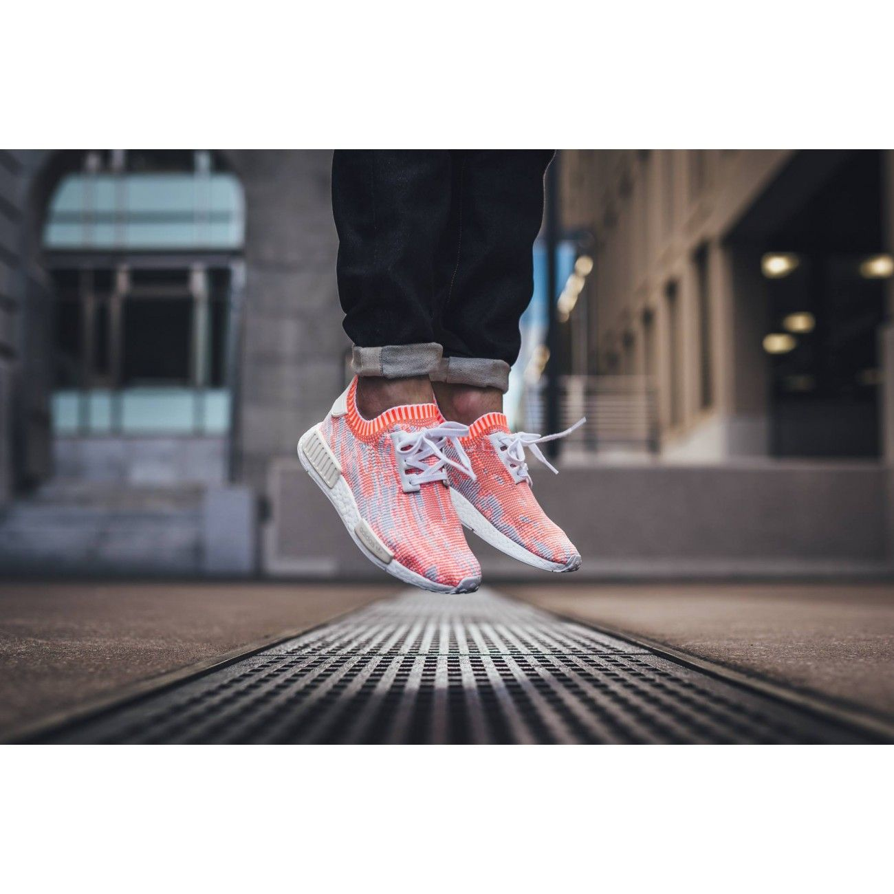 newest eda08 229ea Adidas NMD_R1 Primeknit 'Camo Pack – Solar Red' in 2019 ...