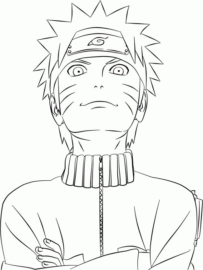 Naruto Shippuden Coloring Pages Dengan Gambar Sketsa Kartun