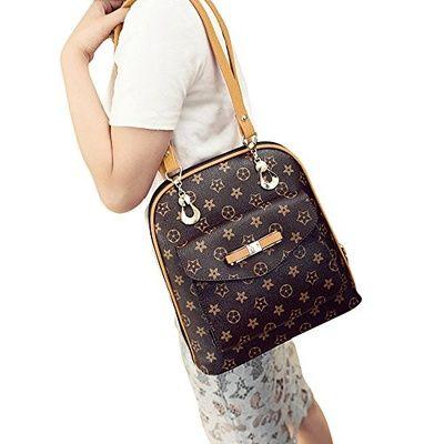 Qoo10 - MSXUAN Fashion Printing Leather Tote Shoulder Handbag Satchel  Leather ...   Men s 73471dcb66e1e