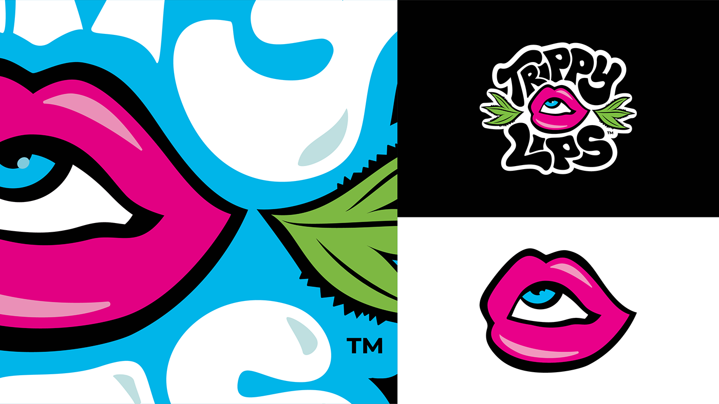 Check Out My Behance Project Trippy Lips Logo Https Www Behance Net Gallery 66718899 Trippy Lips Logo Lip Logo Trippy Lips
