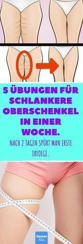 Photo of 5 Übungen für schlankere Oberschenkel in einer Woche.  5 Übungen für schlank…