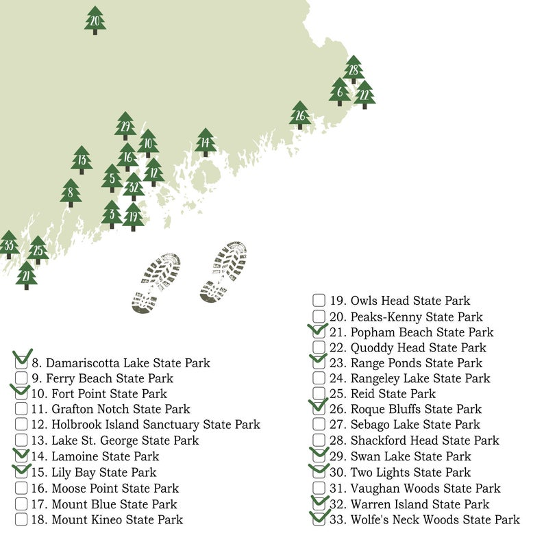 PRINTABLE Maine State Parks Map-State Parks Of Maine Map ...