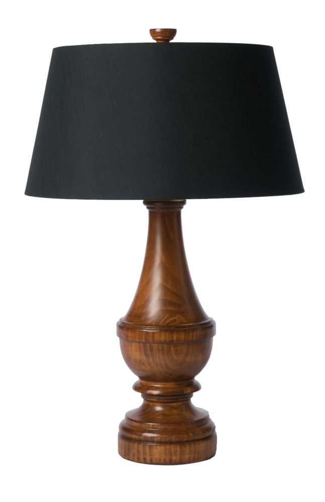 Wood Finial Stained Lamp From Barbara Cosgrove Lighting