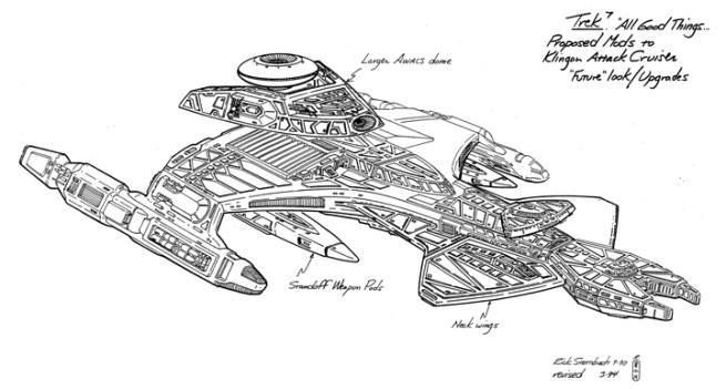 Vor'cHa refit concept art for All Good Things by Rick