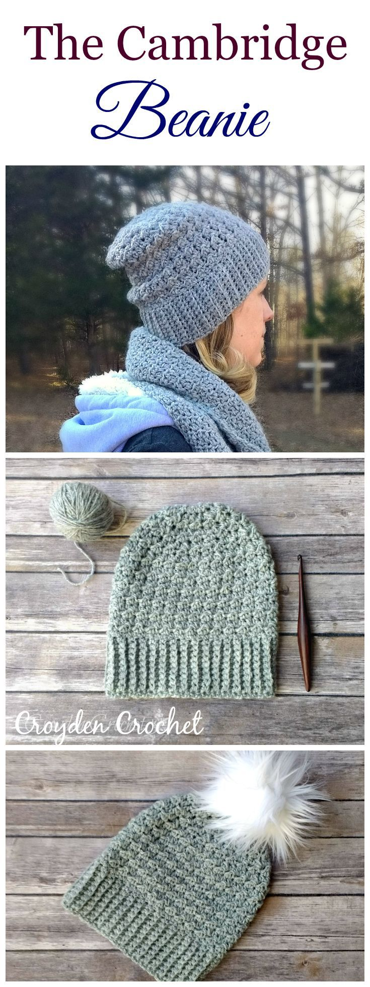 The Cambridge Beanie - A free pattern by   Maggie\'s Crochet - All ...