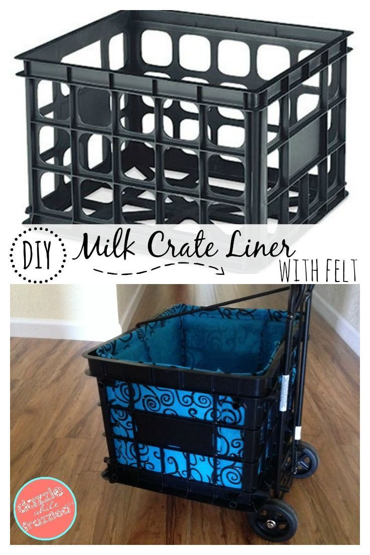 How To Make a Liner for a Plastic Milk Crate Rolling Cart images