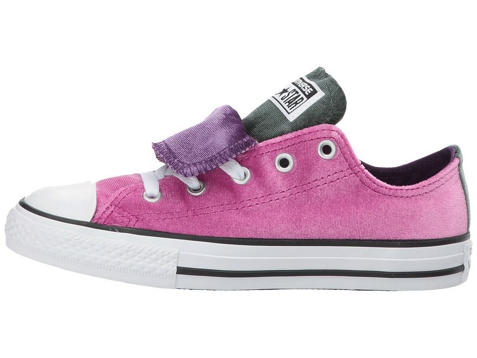 b5f0b05d0d72 Converse Kids Chuck Taylor All Star Velvet Double Tongue - Ox (Little  Kid Big Kid) Girls Shoes Pink Sapphire Deep Emerald
