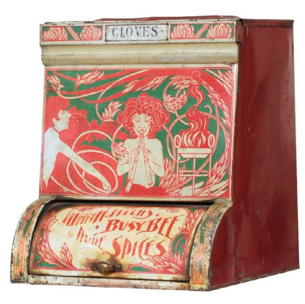 Busy bee spice tin | antique advertising value and price guide.