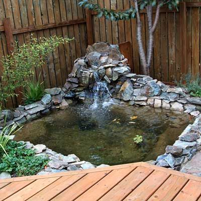 Best ponds from readers 39 yards rock shorts and backyard for Build your own waterfall pond