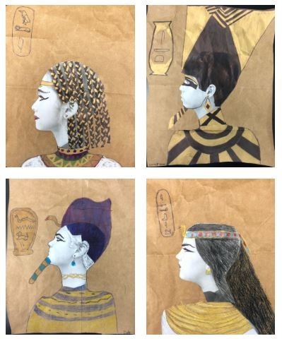Photo of Egyptian Portrait Art Lesson