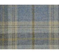 Cornflower Blue wool tartan curtain upholstery fabric