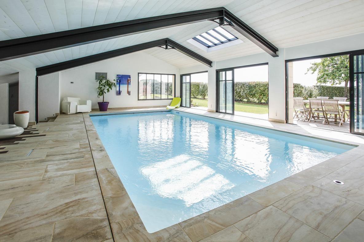 Construire Un Pool House avis piscines caron nantes - réalisation piscine intérieure