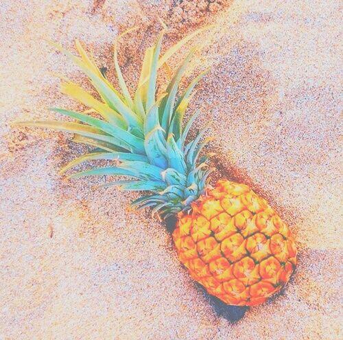 Food Pineapple Sand Summer Tropical Tumblr