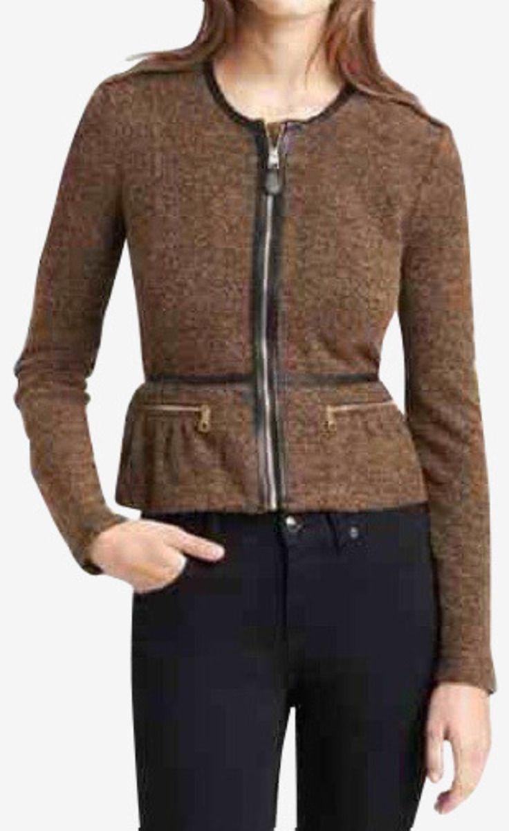 Burberry Brit Brown Wool Peplum Jacket