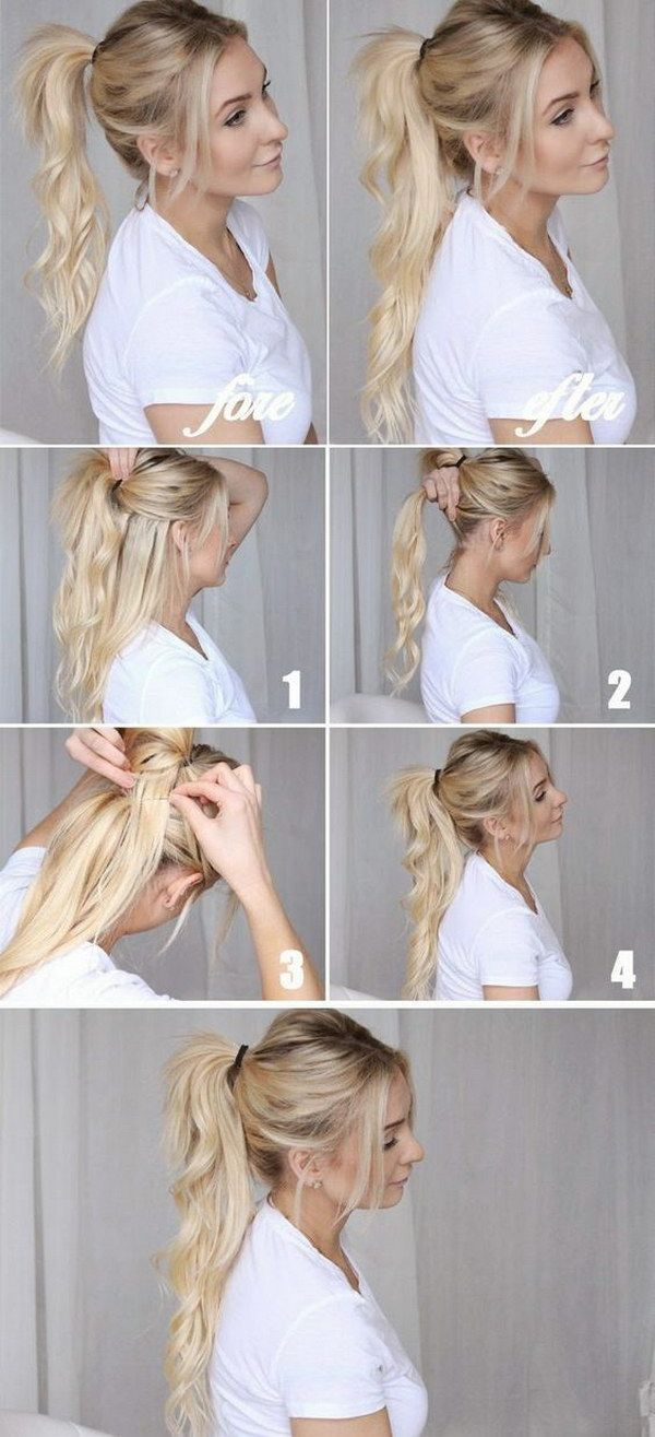 Faux Long Ponytail Trick for Girl Who Has Thin Hair  Long hair