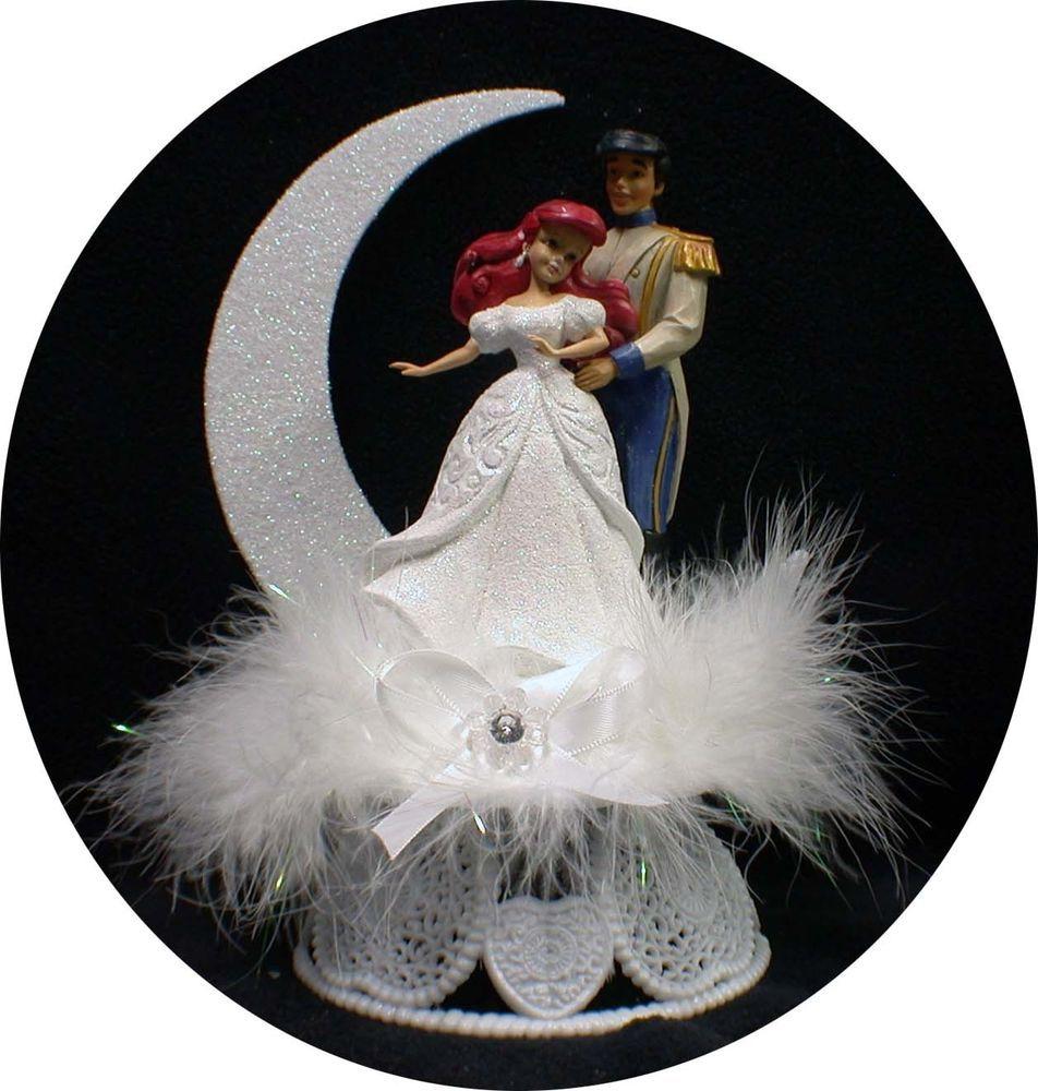 Disney princess little mermaid prince eric wedding cake