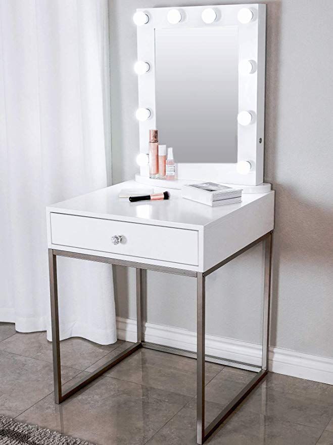 Glamstation Makeup Vanity And Lighted Mirror