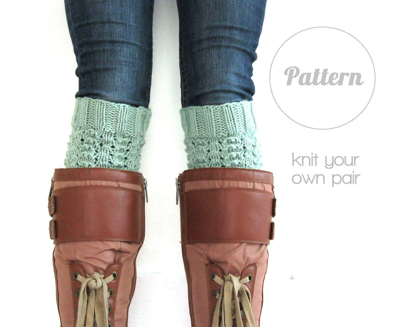 PDF Knitting Pattern Tutorial - Boot Cuffs - Leg Warmers. | Knit ...