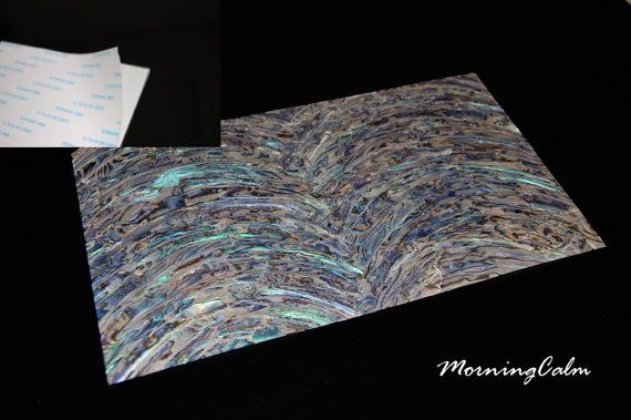 Color RAINBOW Mother of Pearl Shell INLAY Real Shell Sheet Veneer Overlay DIY