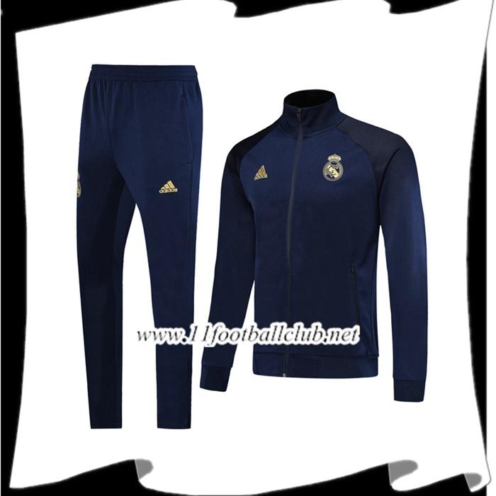 Le Nouveaux Ensemble Veste Survetement Real Madrid Bleu