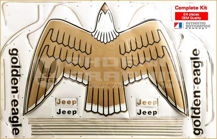 1977 1978 1979 1980 Jeep Golden Eagle Cj5 Cj7 J10 Sj Hood Bird