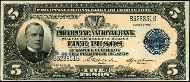 5 Pesos Philippines Currency Bank Notes Paper Money Philippines