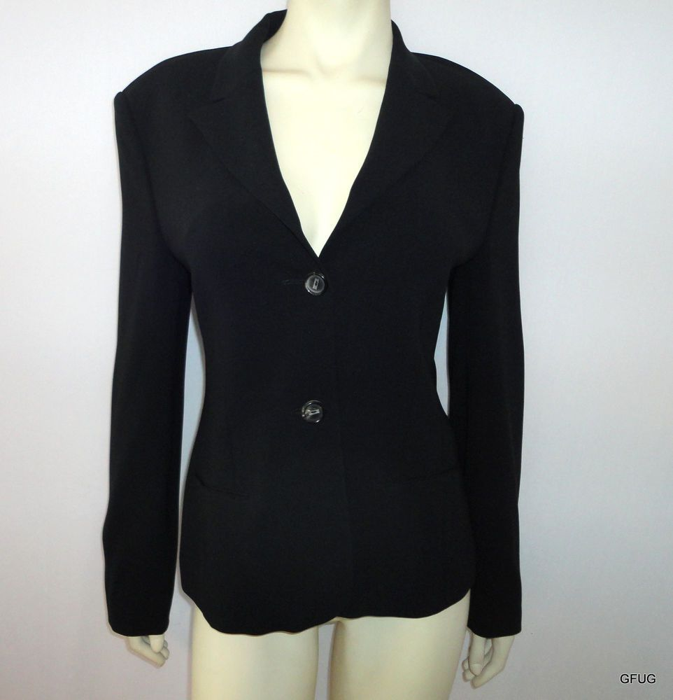 RENE LEZARD Germany Sz 38 Black 2-Button Suit Blazer Jacket