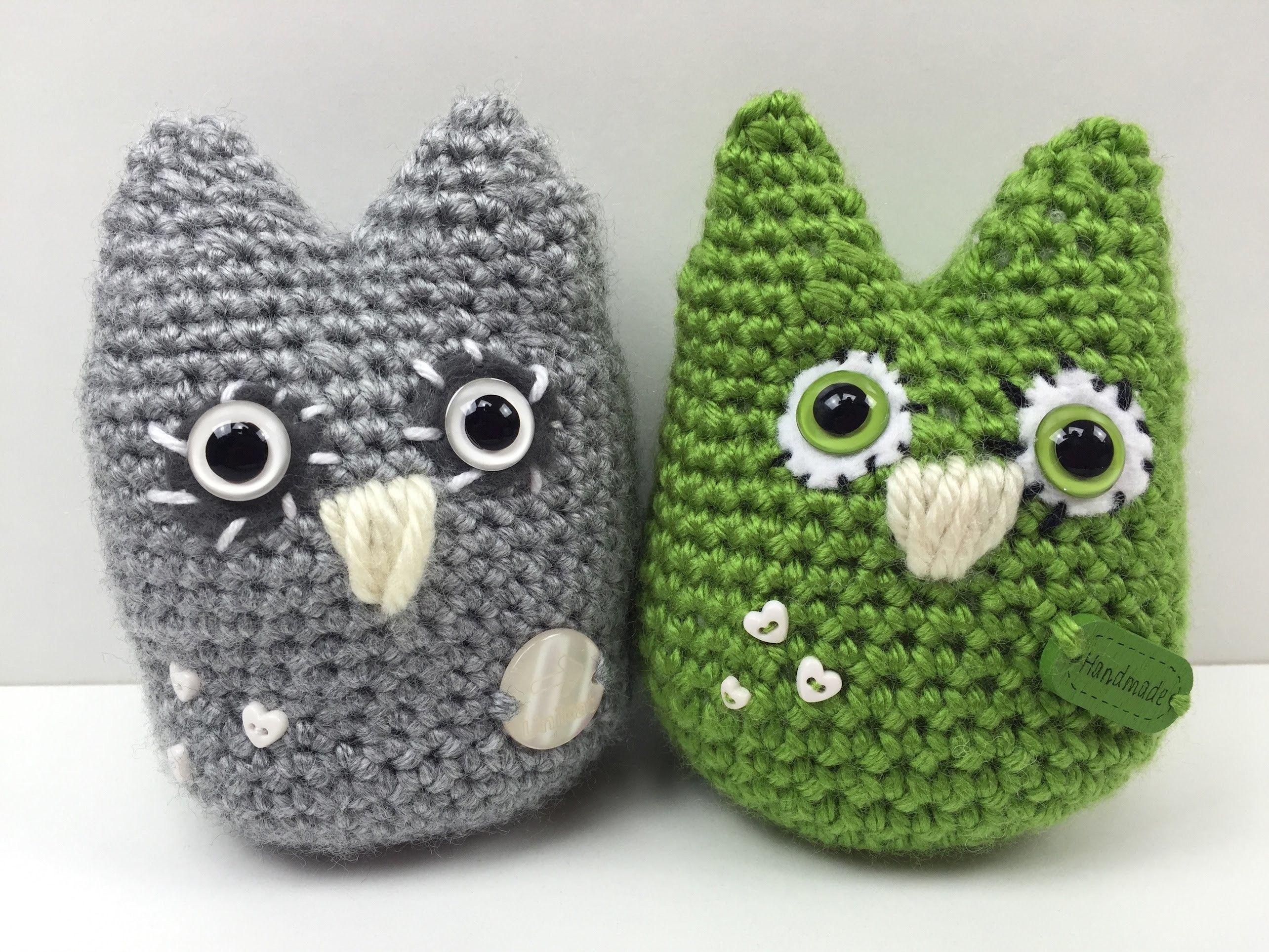 Eule häkeln: schmU-HUsiger UHU - how to crochet an owl | Eule