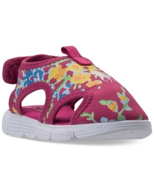 14d4201f2 Polo Ralph Lauren Toddler Girls  Tidal Water Shoes from Finish Line - PINK  WHITE FLORAL