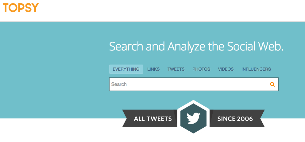 Topsy Social Search Engine [COOL TOOL]