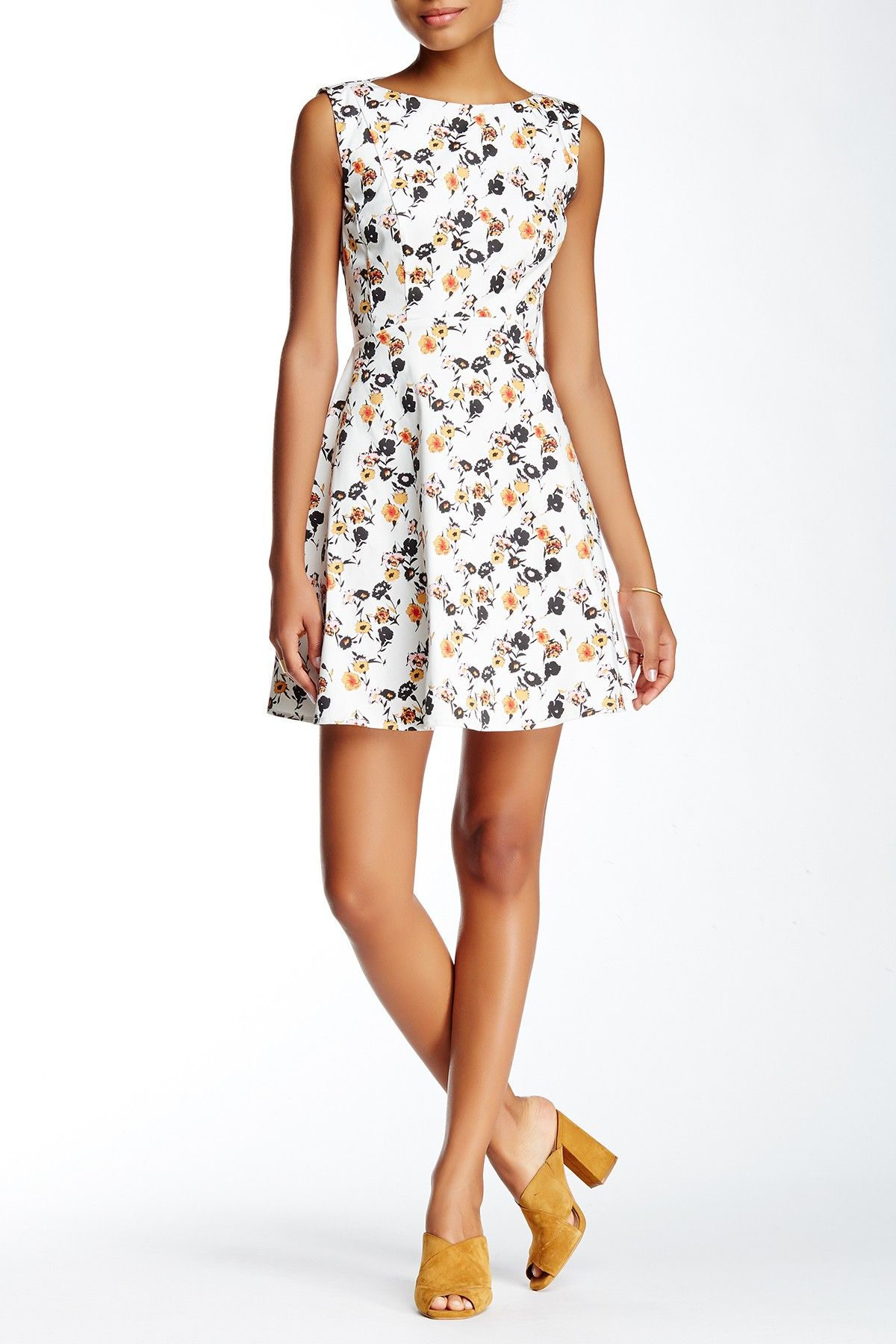 French Connection Sahara Rose Fit Flare Dress Nordstrom Rack Fit Flare Dress Summer Dresses For Women Flare Dress [ 1800 x 1200 Pixel ]