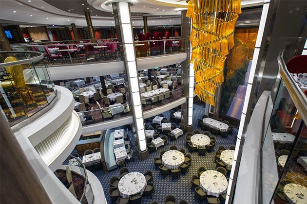 The Main Dining Room On Harmony Of The Seas Photo Cruise Critic Unique Explorer Of The Seas Dining Room Inspiration Design