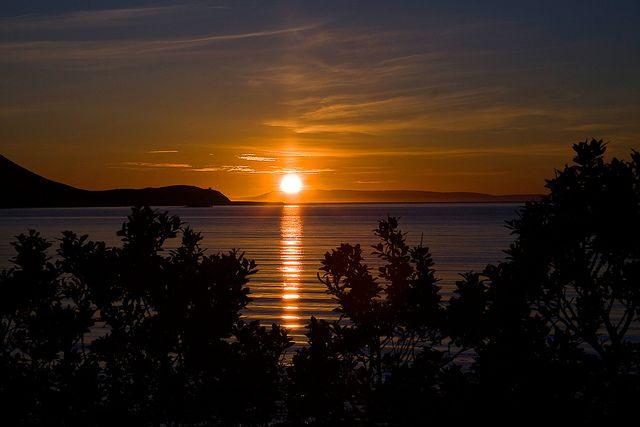 Sunset at Grundarfjordur Iceland by Halldor Kr Jonsson, via Flickr