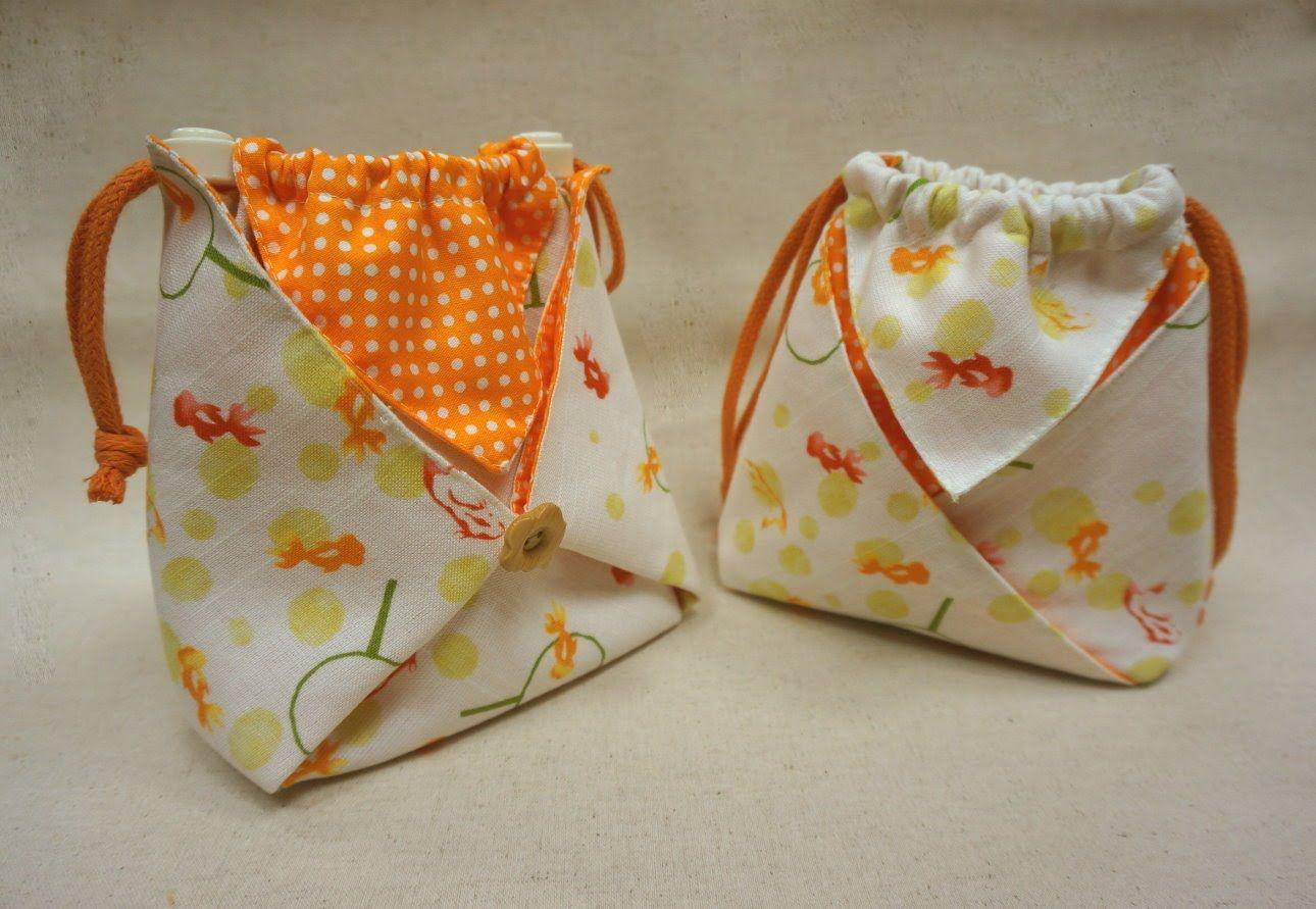 清秀佳人布坊 - 手作教學 - 正方形摺角束口袋 / 阿信袋 的作法